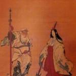 葛飾北斎作:鈿女命と猿田彦命